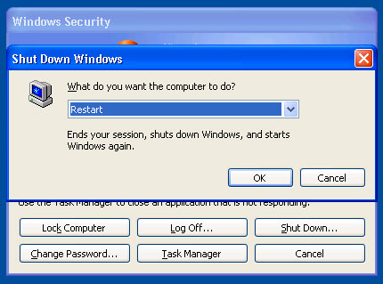 To shut down a remote computer when you are using Remote Desktop, press CTRL+ALT+END, and then click Shutdown.